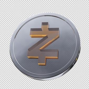 Zcash 동전 3d 그림