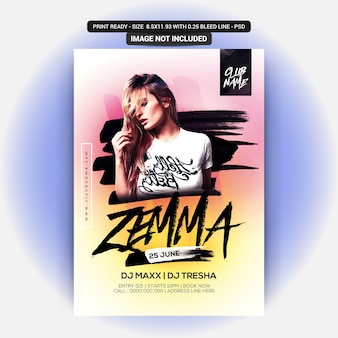 Zemma party flyer