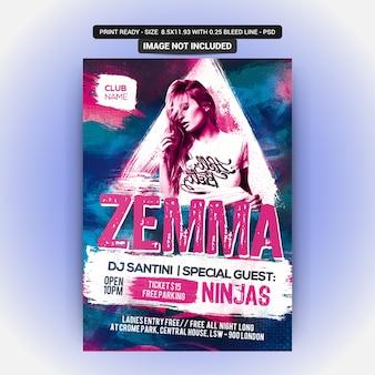 Zemma Sexy Party Flyer