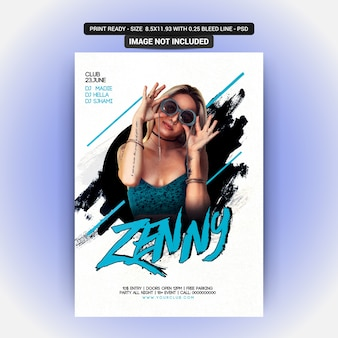 Zenny party flyer template