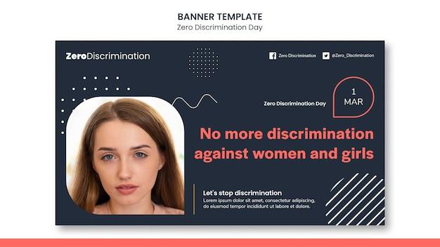 Modello di banner giorno zero discriminazione