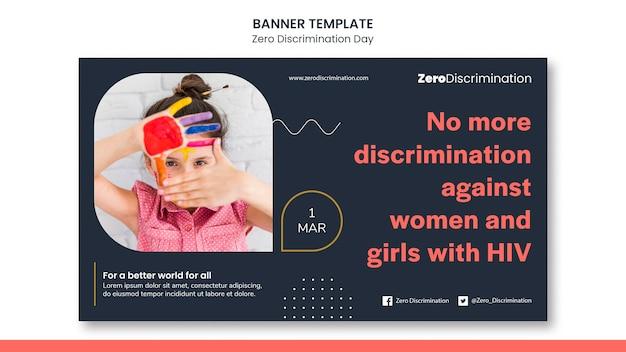 Zero discrimination day banner template