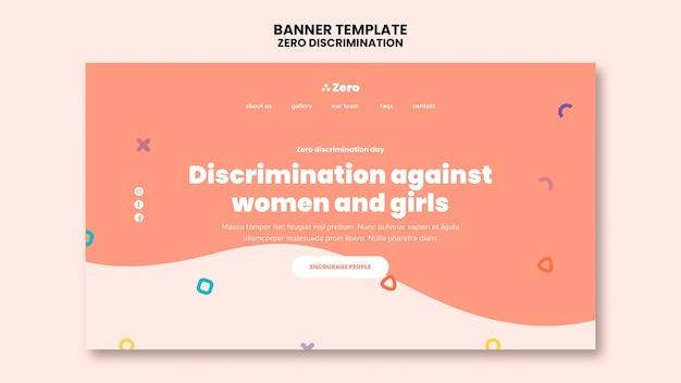 Bandiera del giorno di discriminazione zero