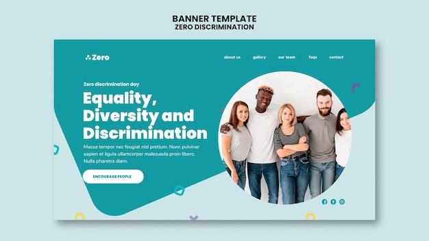 Zero discrimination day banner