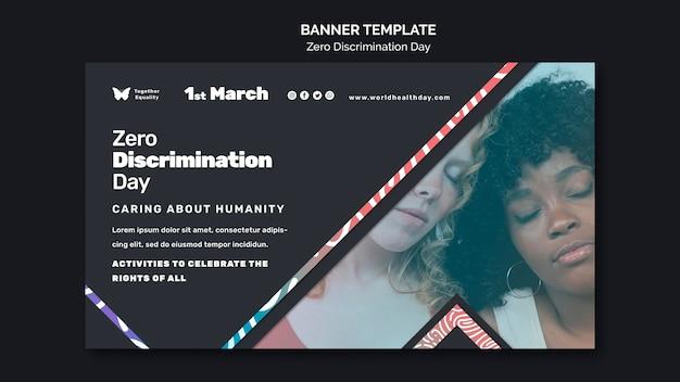 Modello di banner per eventi di giorno di discriminazione zero