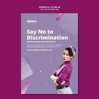 Modello di volantino per evento di giorno di discriminazione zero