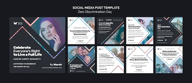 제로 차별의 날 행사 instagram posts