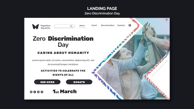 Pagina di destinazione dell'evento per il giorno della discriminazione zero Psd Gratuite