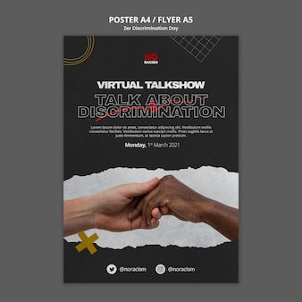 Zero discrimination day flyer template