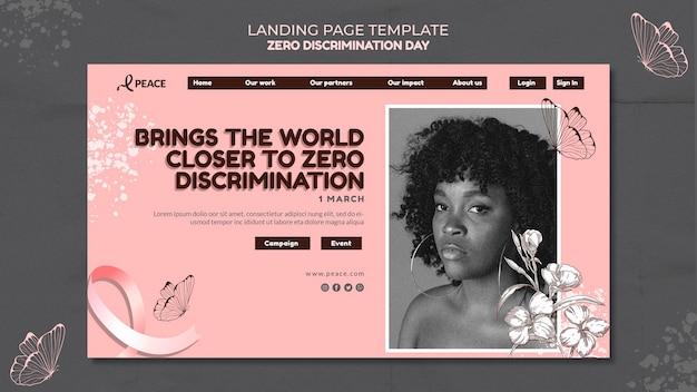 Pagina di destinazione del giorno zero discriminazione