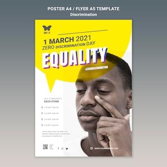 Modello di poster del giorno di discriminazione zero
