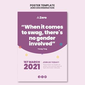 Modello di stampa per il giorno della discriminazione zero