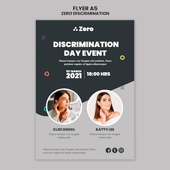 Zero discrimination day print template
