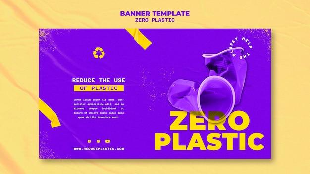 Modello di progettazione di banner in plastica zero