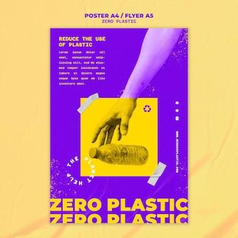 Modello di progettazione di poster in plastica zero