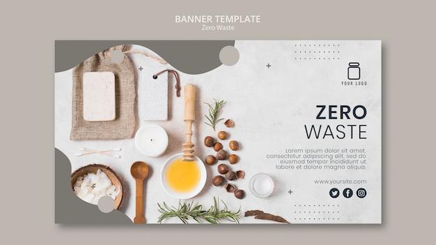 Design del banner zero rifiuti