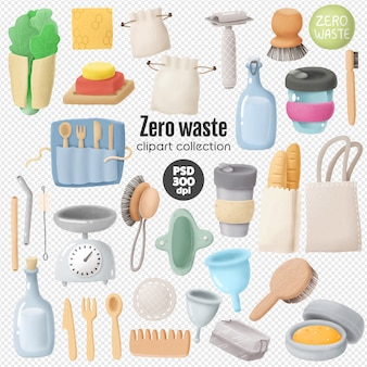 Zero waste clipart collection