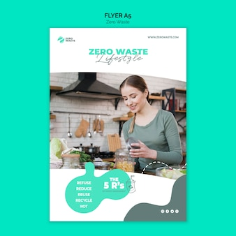 Zero waste flyer template