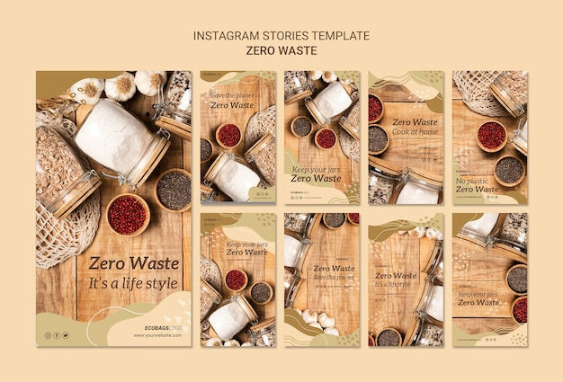 Zero waste instagram stories template