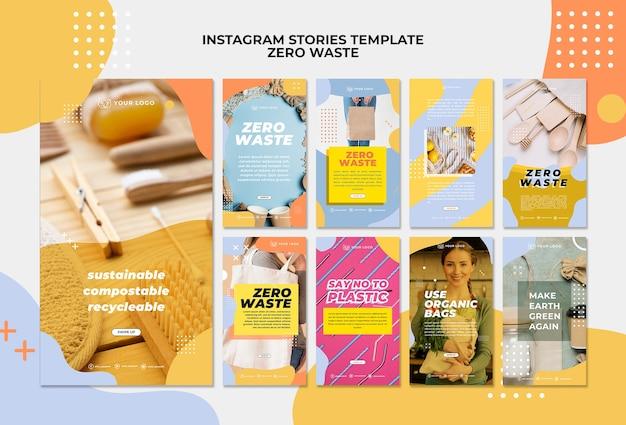 Zero waste instagram stories template