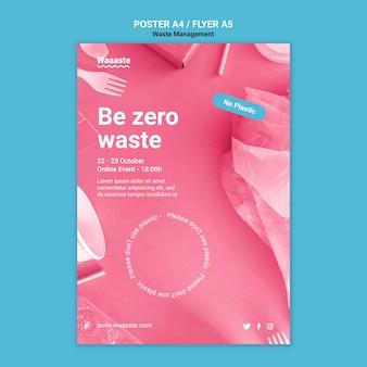 Modello di manifesto zero rifiuti