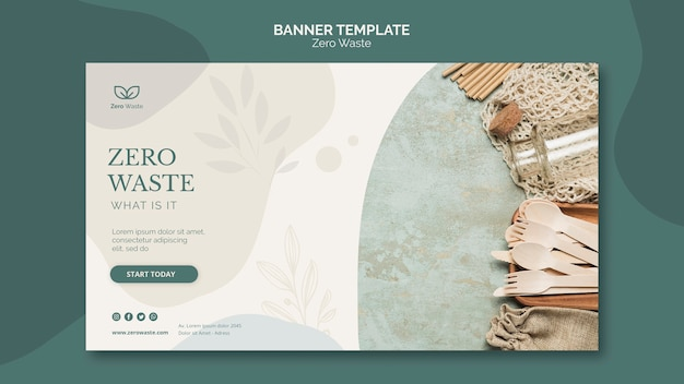 Zero waste products banner template