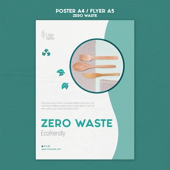 Zero waster flyer template with photo