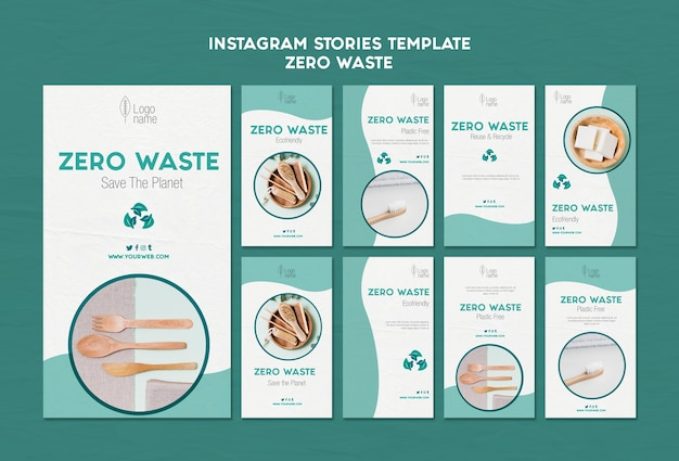 Zero waster instagram stories template