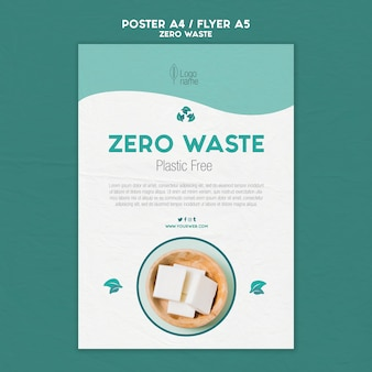 Zero waster poster template