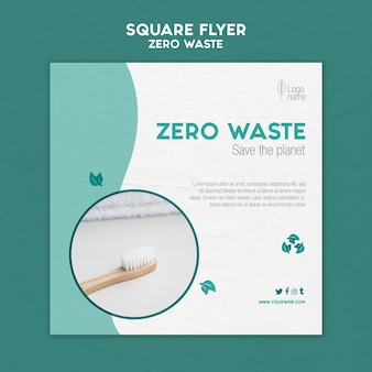 Zero waster square flyer template