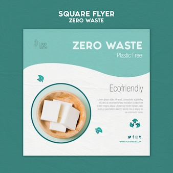 Zero waster square flyer with photo