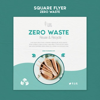 Zero waster square flyer