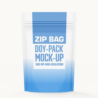 Zip pouch bag mock-up