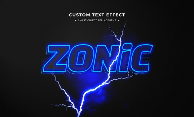 Zonic 3d text style