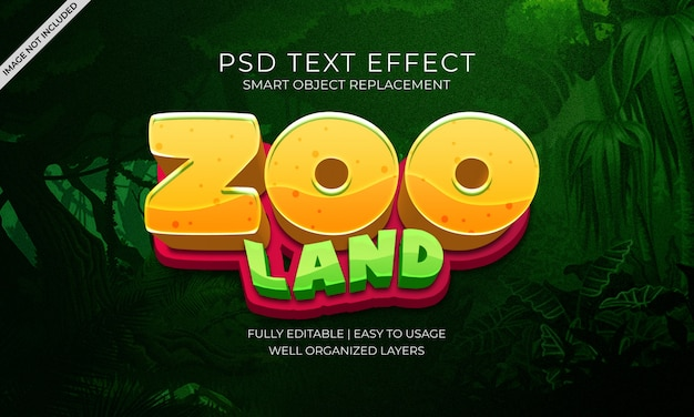 Zoo animals text effect