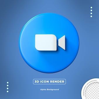Zoom 3d isolated render icon