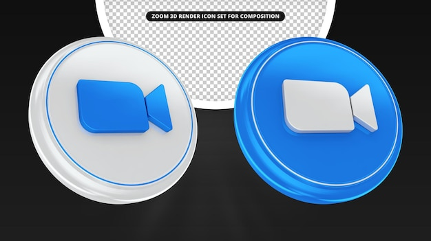 Набор значков 3d визуализации для композиции