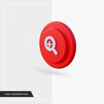3d 렌더링에서 빨간색 아이콘 확대