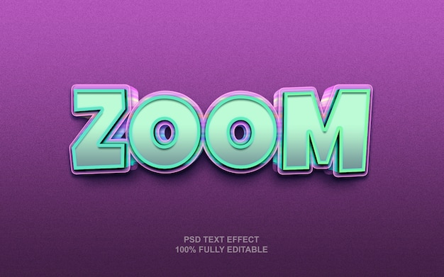 Zoom style text effect template