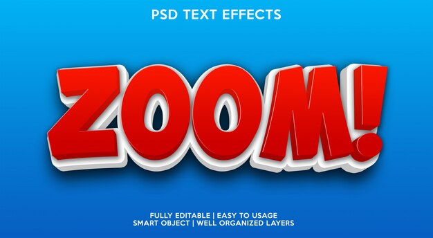 Zoom text effect modern