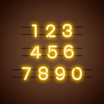Число 0-9 системы счисления вектор
