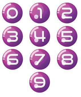 0〜9の番号のベクトル