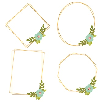 016-vintage wedding geometric floral framesコレクション