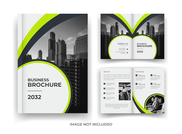 04 page business brochure design and annual report and magazine template