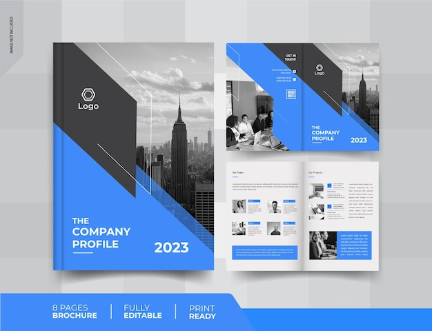 04 pages business brochure design