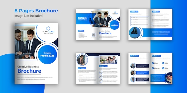 ビジネスパンフレットデザインテンプレート08ページ