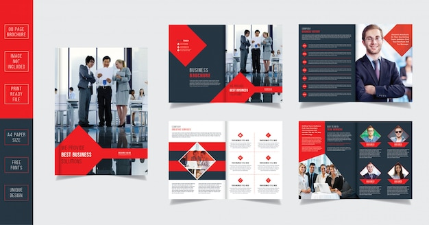 企業のビジネスパンフレットデザイン08ページ