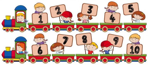 1から10までの列車