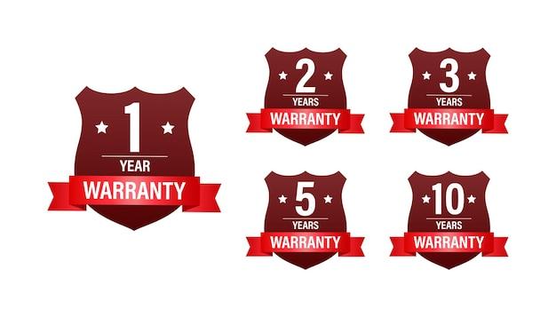 Гарантия 1, 2, 3, 5, 10 лет. значок службы поддержки векторные иллюстрации и запасов