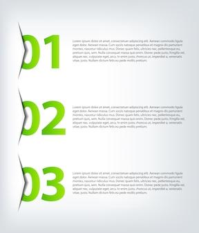 1 2 3-進捗インフォグラフィック
